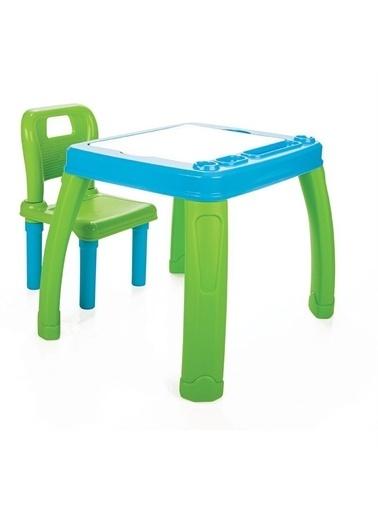 Pilsan Sandalyeli Çalışma Masası - Oyun ve Aktivite Masası -03-402 Mavi